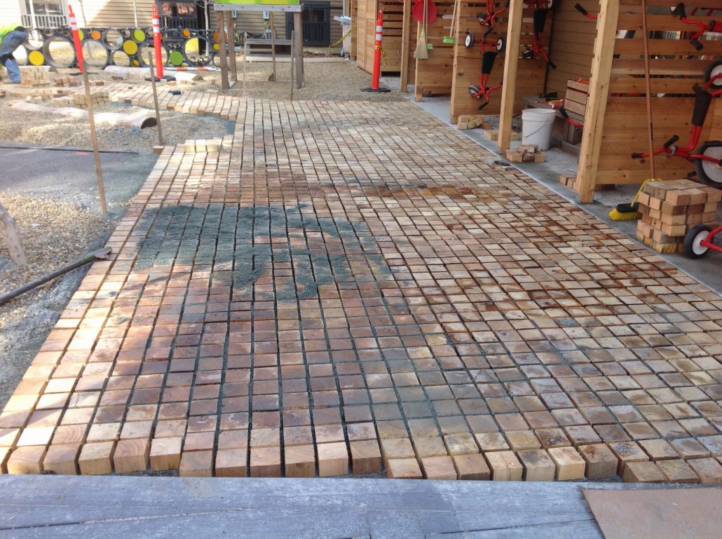 Permeable Wood Pavers New Robi Decking