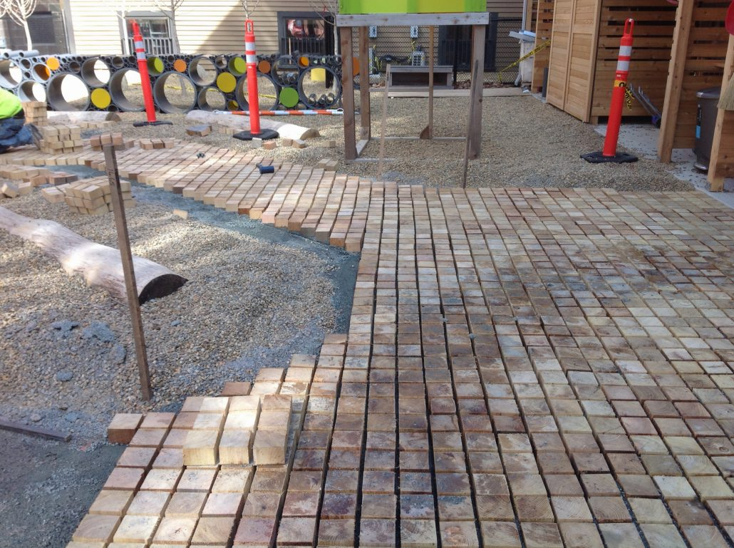 Permeable Wood Pavers 187 Robi Decking